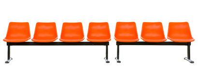 Empty orange seats Stock Photo