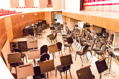 Empty orchestra pit in theatre Royalty Free Stock Photos