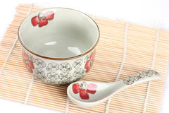 Empty OrieEmpty Oriental bowl. On a white background.ntal bowl on a white background Royalty Free Stock Photography