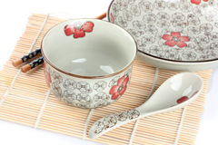 Empty OrieEmpty Oriental bowl. On a white background.ntal bowl on a white background Royalty Free Stock Photos