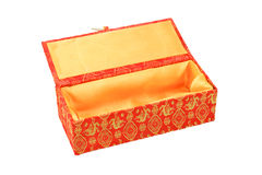 Empty oriental gift box Royalty Free Stock Photo