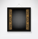 Empty ornamented frame black Stock Photography