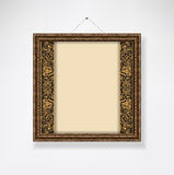 Empty ornamented frame Royalty Free Stock Photos
