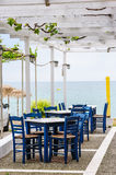 Empty outdoor beach cafe Stock Image