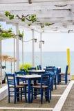 Empty outdoor beach cafe Stock Image