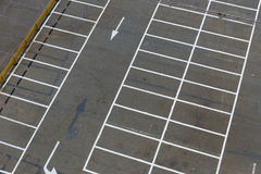 Empty outdoor car park Stock Images