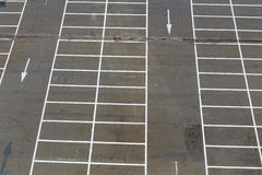 Empty outdoor car park stock photo