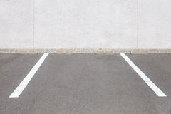 Empty outdoor car parking space Royalty Free Stock Image