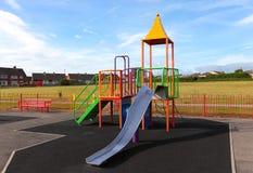 Empty Outdoor Children  Playground Stock Photo