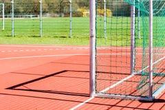 Empty outdoor handball goal Royalty Free Stock Photography