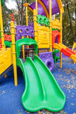 Empty outdoor modern design colorful attractive playground Stock Images
