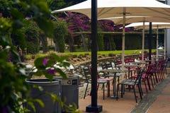 Empty Outdoor Park Restaurant Dinning royalty free stock photos