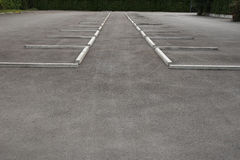 Empty outdoor parking Stock Photography