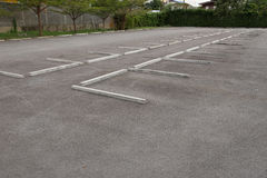 Empty outdoor parking Royalty Free Stock Photo