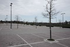 Empty outdoor parking mall. Day Stock Images