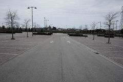 Empty outdoor parking mall. Day Royalty Free Stock Photography