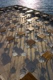 Empty outdoor restaurant. Royalty Free Stock Image