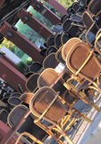 Empty Outdoor Restaurant Royalty Free Stock Images