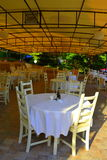 Empty outdoor restaurant Royalty Free Stock Photography