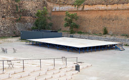 Empty outdoor stage. Royalty Free Stock Photos