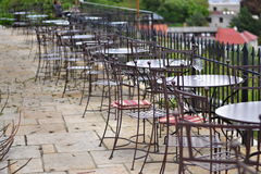 Empty outdoor wine bar Royalty Free Stock Images