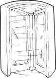 Empty Outlined Revolving Doorway Stock Images