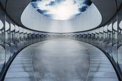 Empty oval arena  spot light Stock Image