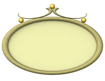 Empty oval picture frame 3d Royalty Free Stock Photography
