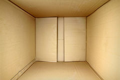 Empty package box, 3d view inner side. Stock Image