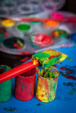 Empty paint tubes Royalty Free Stock Images