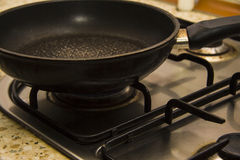 Empty pan on a Stove Burner Royalty Free Stock Photos