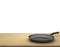 Empty Pan On The Table  On Isolated White Background Royalty Free Stock Photography