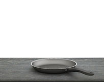 Empty Pan On The Table  On Isolated White Background Royalty Free Stock Image