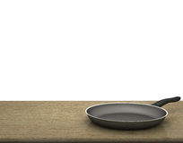 Empty Pan On The Table  On Isolated White Background Royalty Free Stock Photo