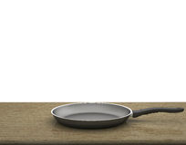 Empty Pan On The Table  On Isolated White Background Stock Image