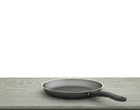 Empty Pan On The Table  On Isolated White Background Royalty Free Stock Photos