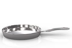 Empty pan on white background Royalty Free Stock Image