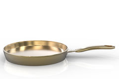 Empty pan on white background Stock Photo