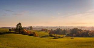 Empty panoramic autumn landscape stock photos