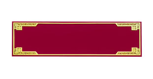 Empty panoramic wooden red chinese sign stock images