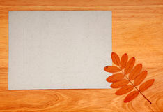 Paper On Wooden Background Royalty Free Stock Image