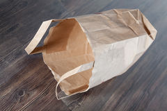 Empty paper bag Stock Photos