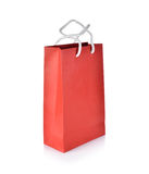 Empty paper bag on white Royalty Free Stock Photos