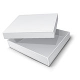 Empty paper box  Stock Image