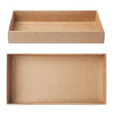 Empty paper box Stock Images