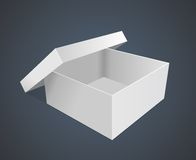 Empty paper box vector illustration Stock Images