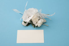Empty paper card with beautiful flowers Royalty Free Stock Photos