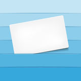 Empty paper card for your text Stock Photo