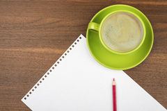 Empty paper with coffee Royalty Free Stock Image