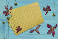 Empty paper with decoration Royalty Free Stock Photos